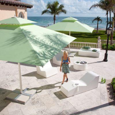 Exklusiver Sonnenschirm besonders für Gastronomie geeignet